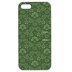 Damask Green Apple Iphone 5 Hardshell Case With Stand by vintage2030