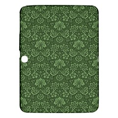 Damask Green Samsung Galaxy Tab 3 (10 1 ) P5200 Hardshell Case  by vintage2030