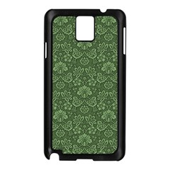 Damask Green Samsung Galaxy Note 3 N9005 Case (black) by vintage2030