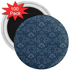 Damask Blue 3  Magnets (100 Pack) by vintage2030
