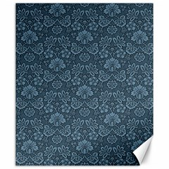 Damask Blue Canvas 20  X 24  by vintage2030