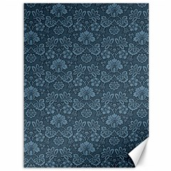 Damask Blue Canvas 36  X 48  by vintage2030