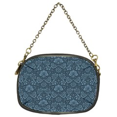 Damask Blue Chain Purse (two Sides) by vintage2030