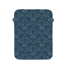 Damask Blue Apple Ipad 2/3/4 Protective Soft Cases by vintage2030