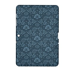 Damask Blue Samsung Galaxy Tab 2 (10 1 ) P5100 Hardshell Case  by vintage2030
