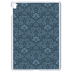 Damask Blue Apple Ipad Pro 9 7   White Seamless Case by vintage2030