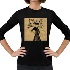 Vintage 1060201 1920 Women s Long Sleeve Dark T Shirt by vintage2030
