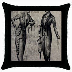 Vintage 1060195 1920 Throw Pillow Case (black) by vintage2030