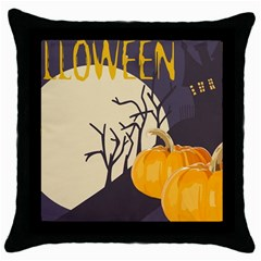 Halloween 979495 1280 Throw Pillow Case (black) by vintage2030
