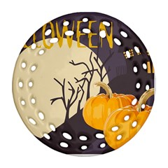 Halloween 979495 1280 Ornament (round Filigree) by vintage2030