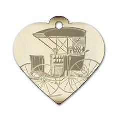Vintage 979514 1280 Dog Tag Heart (one Side)