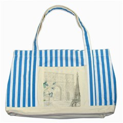 French 1047909 1280 Striped Blue Tote Bag