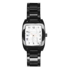 French 1047909 1280 Stainless Steel Barrel Watch
