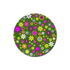 Abstract 1300667 960 720 Rubber Coaster (round)  by vintage2030
