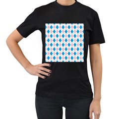 Argyle 316838 960 720 Women s T Shirt (black) (two Sided)
