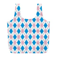 Argyle 316838 960 720 Full Print Recycle Bag (l)