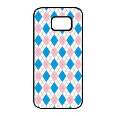 Argyle 316838 960 720 Samsung Galaxy S7 Edge Black Seamless Case