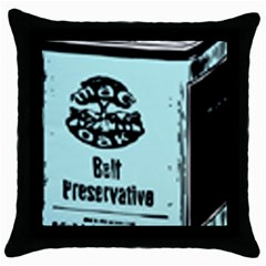 Liftarn Old Can Brown Throw Pillow Case (black)