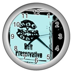 Liftarn Old Can Brown Wall Clock (silver)