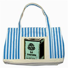 Liftarn Old Can Brown Striped Blue Tote Bag