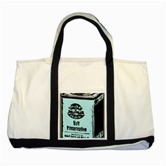 Liftarn Old Can Brown Two Tone Tote Bag