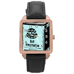 Liftarn Old Can Brown Rose Gold Leather Watch