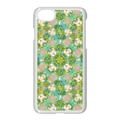 Vintage Floral Print Collage Pattern Apple Iphone 7 Seamless Case (white) by dflcprints