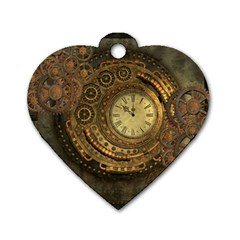 Awesome Steampunk Design, Clockwork Dog Tag Heart (two Sides) by FantasyWorld7
