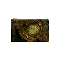 Awesome Steampunk Design, Clockwork Cosmetic Bag (small) by FantasyWorld7