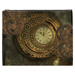 Awesome Steampunk Design, Clockwork Cosmetic Bag (xxxl) by FantasyWorld7