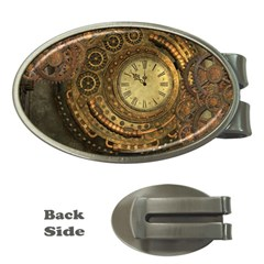 Awesome Steampunk Design, Clockwork Money Clips (oval)  by FantasyWorld7