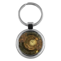 Awesome Steampunk Design, Clockwork Key Chains (round)  by FantasyWorld7