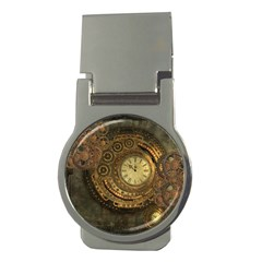 Awesome Steampunk Design, Clockwork Money Clips (round)  by FantasyWorld7