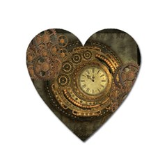 Awesome Steampunk Design, Clockwork Heart Magnet by FantasyWorld7