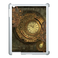 Awesome Steampunk Design, Clockwork Apple Ipad 3/4 Case (white) by FantasyWorld7