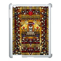Lady Panda In The Apple Cave With Moon And Meteroits Apple Ipad 3/4 Case (white) by pepitasart