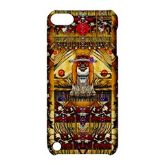 Lady Panda In The Apple Cave With Moon And Meteroits Apple Ipod Touch 5 Hardshell Case With Stand by pepitasart