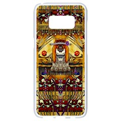 Lady Panda In The Apple Cave With Moon And Meteroits Samsung Galaxy S8 White Seamless Case