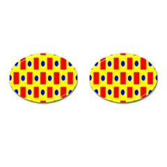 Pattern Design Backdrop Cufflinks (oval)