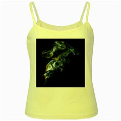 Smoke Flame Dynamic Wave Motion Yellow Spaghetti Tank by Samandel