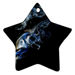 Smoke Flame Dynamic Wave Motion Star Ornament (two Sides)