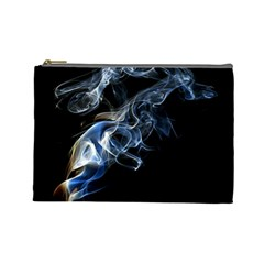 Smoke Flame Dynamic Wave Motion Cosmetic Bag (large)