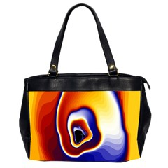 Fractal Art Paint Pattern Texture Oversize Office Handbag (2 Sides)