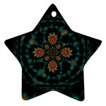 Abstract Digital Geometric Pattern Ornament (Star) Front