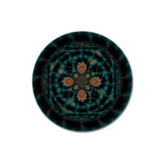 Abstract Digital Geometric Pattern Magnet 3  (round)
