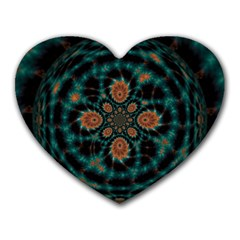 Abstract Digital Geometric Pattern Heart Mousepads
