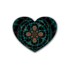 Abstract Digital Geometric Pattern Heart Coaster (4 Pack)