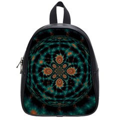 Abstract Digital Geometric Pattern School Bag (small)