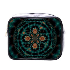 Abstract Digital Geometric Pattern Mini Toiletries Bag (one Side) by Samandel