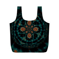 Abstract Digital Geometric Pattern Full Print Recycle Bag (m)